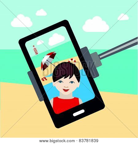 Kids selfie photo. Mobile picture. Selfie set.