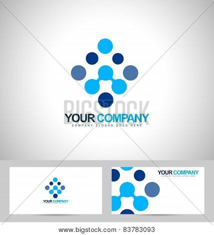Blue Dots Business Logo