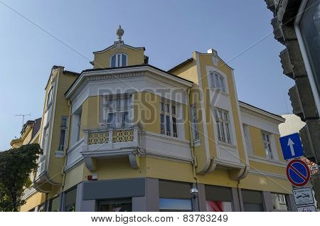 Old renovated building in Ruse town