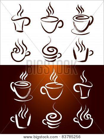Coffee Cup Logo Set