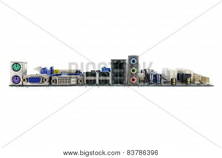 mother board isolated on white