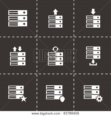 Vector database icon set