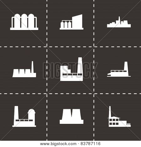 Vector factory icon set