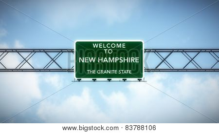 New Hampshire USA State Welcome to Highway Road Sign
