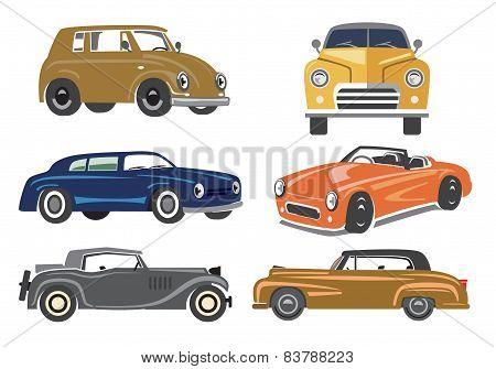 vintage style retro cars