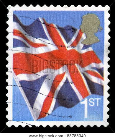 Used British Postage Stamp Of The Union Flag
