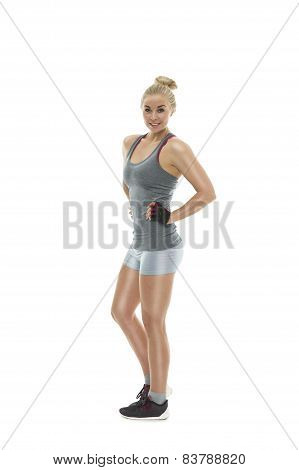 Strong Shapely Athletic Young Woman