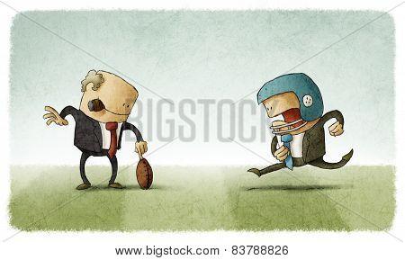 teamwork with boss