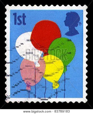 Celebration Used British Postage Stamp