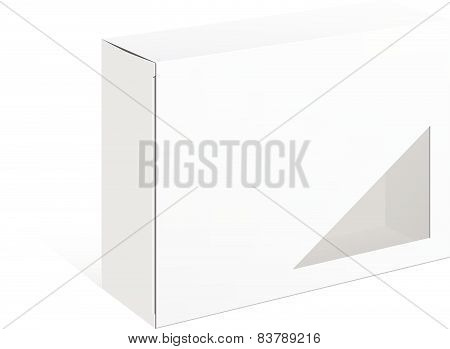 Package Cardboard Box with a window.