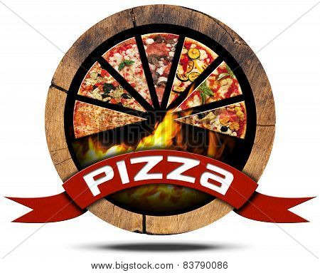 Pizza - Wooden Icon