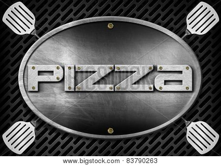Pizza Metallic Sign