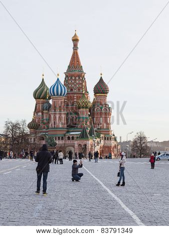 People taking pictures in Moscow