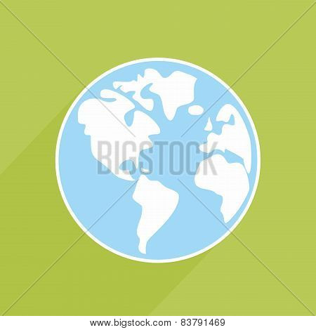 Hand drawn vector earth on green background