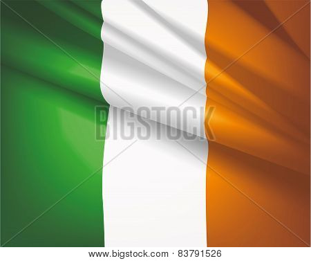 Flag Of Ireland, Vector Background