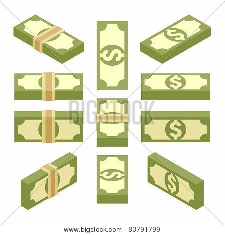 Isometric bundles of paper money