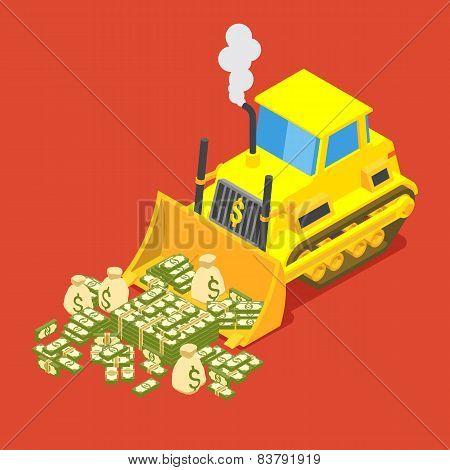 Bulldozed money