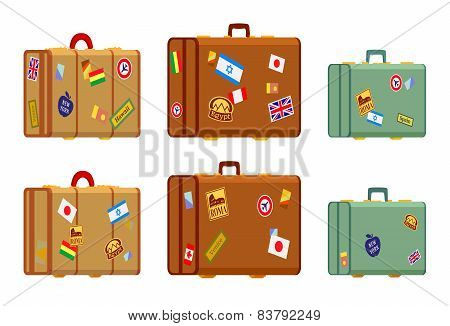 Travelers suitcases
