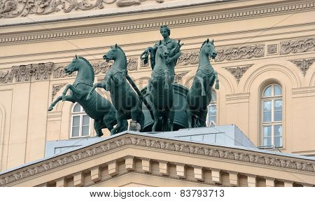Sculptures Of The Bolshoi Theatre