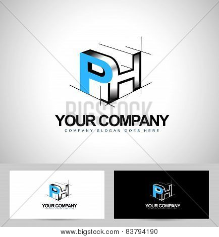 Ph Letters Logo Design