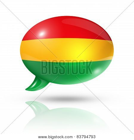 Bolivian Flag Speech Bubble