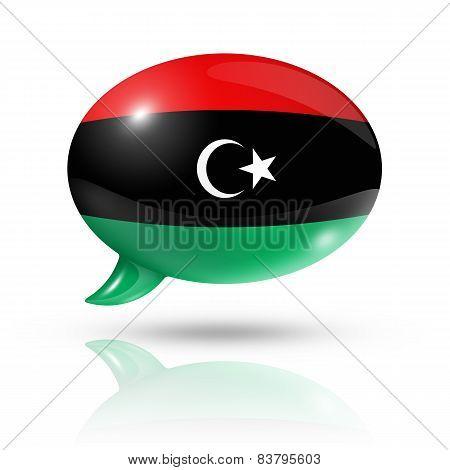 Libyan Flag Speech Bubble