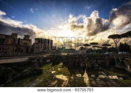 Sunrise Over Trajan Forum