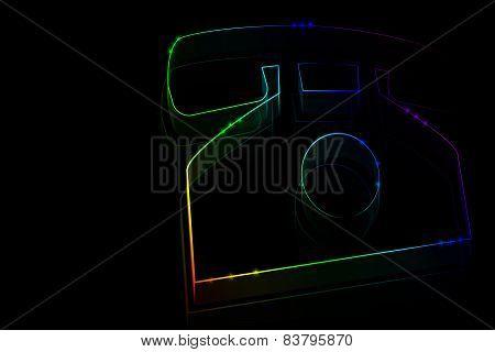 Neon Phone Symbol