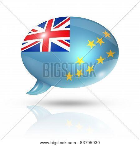 Tuvalu Flag Speech Bubble