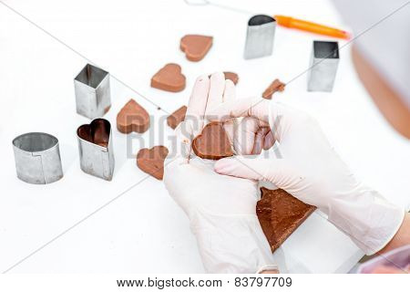 Making chocolate candy