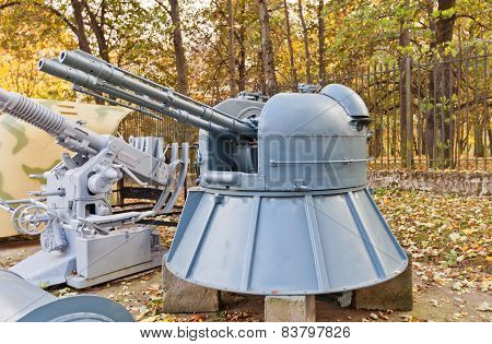 Soviet Naval Twin 30 Mm Anti-aircraft Gun Model Ak-230