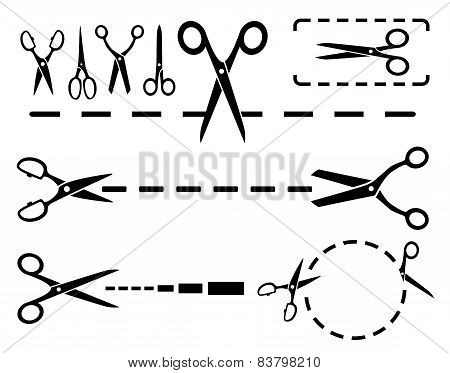 Scissors Set With Dotted Line