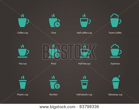 Coffee cup and Tea mug icons.