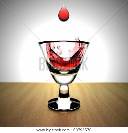Dripping fluid into a glass