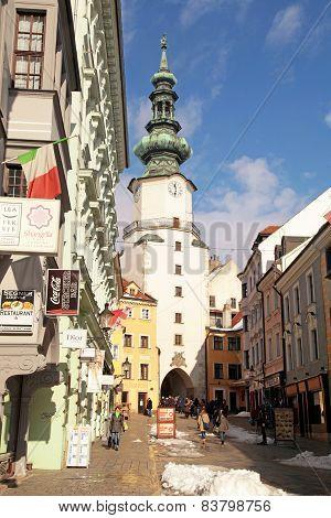 Old Town In Bratislava, Slovakia.