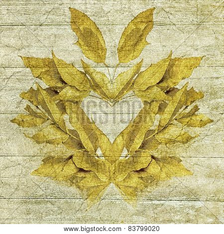 Ornament Leaves Collage Decorative Artwork