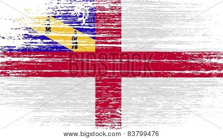 Flag Of Herm With Old Texture. Vector