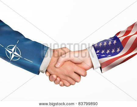 Man Shake Hands. Friendship Countries.