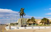 picture of great horse  - Statue of Alexander the Great in Thessaloniki  - JPG
