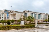 stock photo of socrates  - The National Library in Athens  - JPG