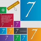 image of number 7  - number seven icon sign - JPG