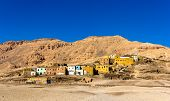 picture of west village  - Egyptian village in the desert near Luxor - JPG