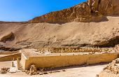 stock photo of mortuary  - Ruins of the Mortuary temple of Nebhepetre Mentuhotep  - JPG