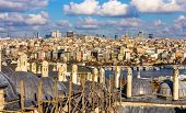 picture of rabies  - View of Istanbul city center from the Sueymaniye Mosque  - JPG