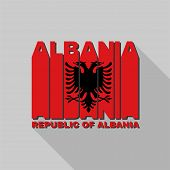 picture of albania  - Republic of Albania flag of the letters typography t - JPG