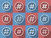 picture of hashtag  - Icon Set of hashtags - JPG
