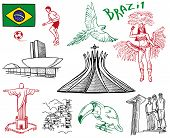 stock photo of carnival brazil  - drawings on the theme of Brazil - JPG
