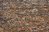 stock photo of wall-stone  - tiling stone wall texture - JPG