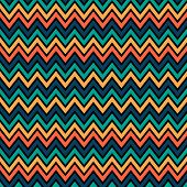 stock photo of chevron  - Seamless blue green gold chevron pattern geometric background - JPG