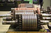stock photo of electrical engineering  - The electric motor rotor of stock - JPG